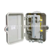 Ftth caja de distribución de cable de caída de fibra exterior 48 núcleos de distribución de distribución óptica insertar divisor de fibra óptica