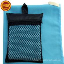O mais novo design de microfibra de qualidade superior camurça esporte toalha com saco de bolsa