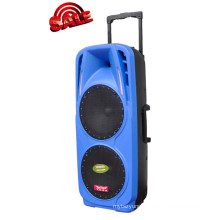 Rechargeable Battery DJ Speaker Box with USB/SD Bluetooth Wireless Microphones