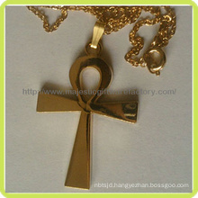 Gold Plating Personal Cross Religious Pendant