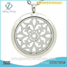 2015 Nuevo acero inoxidable Twist Oils difusor colgante perfume Locket colgante locket en blanco
