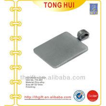 Blank Nickel quadratische Metall-Schlüsselbänder leer