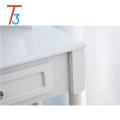 conjunto de vaidade do espelho do banheiro organizador de bancada de mesa maquiagem branca