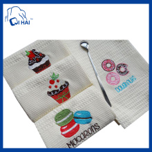 Macarons Doughnuts Embroidery Tea Towel (QHT5561)