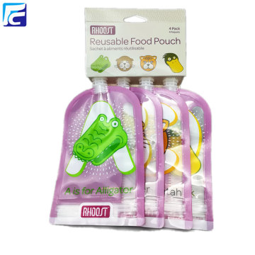 Reusable baby food spout pouch plastic drink bags