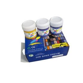 6 Colors Glass Paint set
