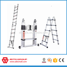 double side telescopic ladder,fold up aluminium ladder
