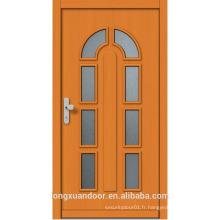 Porte en verre en bois sur mesure, porte en bois moderne avec verre