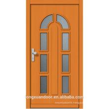 Custom made wood interior glass door, modern wood door with glass