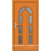 Porta de madeira de madeira feita sob encomenda, porta de madeira moderna com vidro
