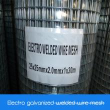 Mesh métallisé soudé galvanisé électro électrode / électro-zinc