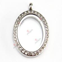 Colgante oval del medallón del acero inoxidable para la venta al por mayor