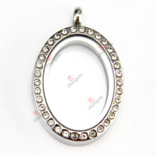 Stainless Steel Oval Locket Pendant for Wholesale