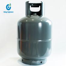 Tanzania 10kg Steel Gas Cylinder/Bottle with Brass Valve, Portable Empty LPG Gas Cylinder