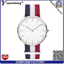 Yxl-602 2016 Мужские кожаные наручные часы с хромированными мужскими и женскими хромированными мужскими и хромированными наручными часами с Movt