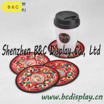 Coaster d'hôtel, tasse Coaster, bière Coaster avec 4c imprimant le logo et les illustrations avec des GV (B & C-G110)