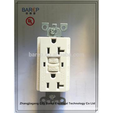 Interruptor de falha de aterramento GFCI com aprovação UL, 20A, 125V AC, 60Hz barep