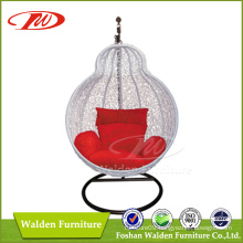All weather outdoor rattan hanging chair with UV-proof