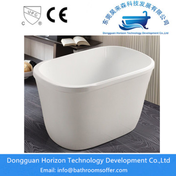 Deep stand alone bathtub acrylic bathtub