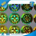 Máquina de impressão de etiquetas hologramas holográficas personalizadas de alta qualidade faz hologramas de ouro redondos