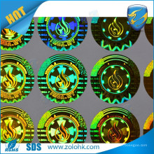 high quality Custom Holographic Sticker Label print machine make round gold holograms