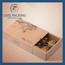 Переработанная коробка для кондитерских изделий из коричневого граната коричневого цвета (коробка CMG-cake-022)