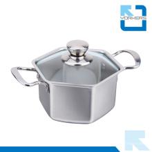 Olla de la sopa del pote de cocinar del acero inoxidable de la alta calidad 304