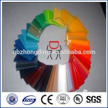 Feuilles de fonte acrylique