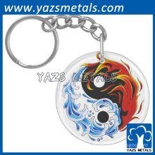 promotional animal picture printing metal keychain