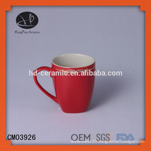 red stoneware mug,ceramic mug wholesale,stoneware mug with color,OEM ceramic mug