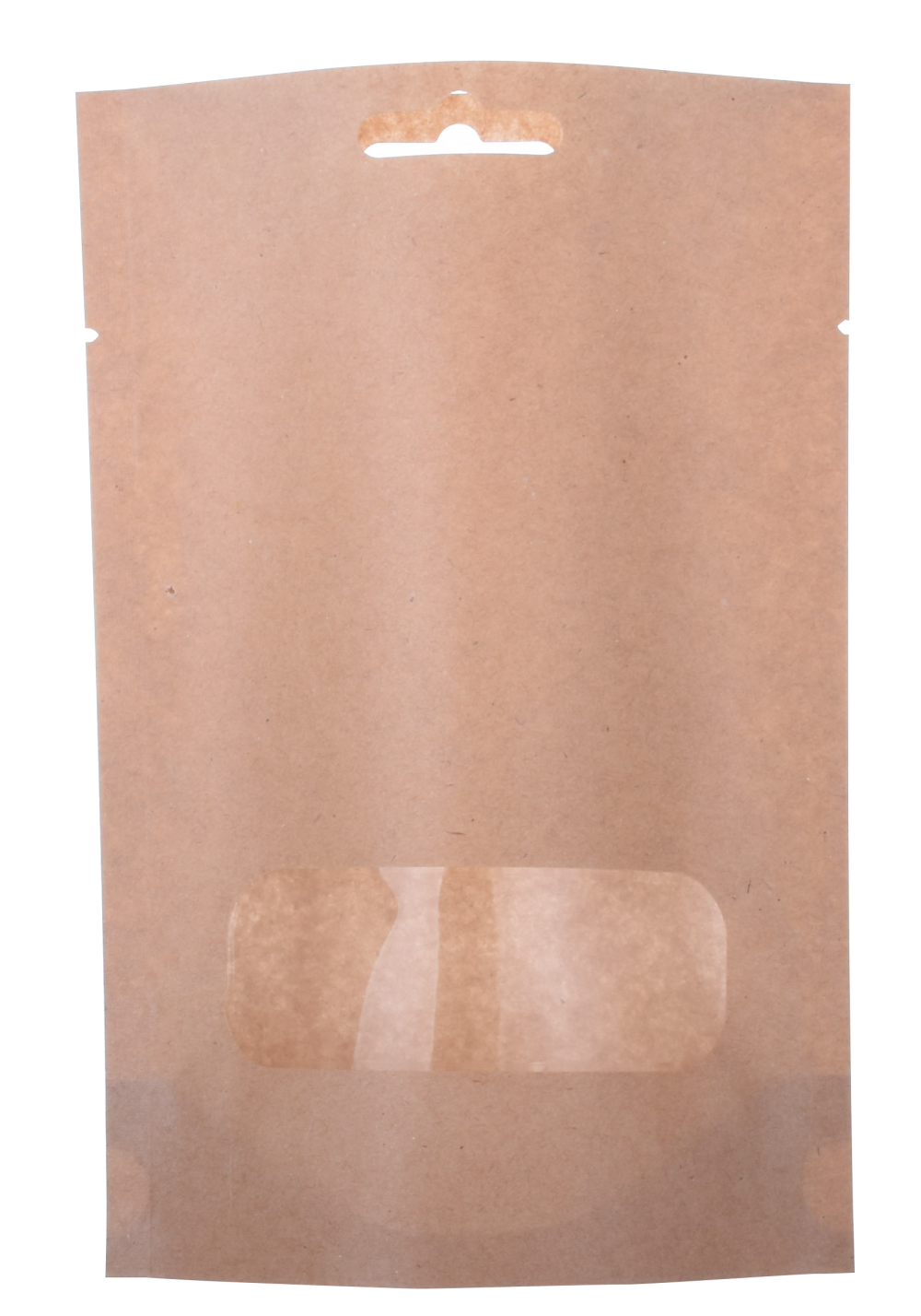 Cerniera in carta Kraft Stand Up Pouch con finestra