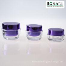 50g Metallized Purple Color Acrylic Jar Double Wall Jar Acrylic Jar