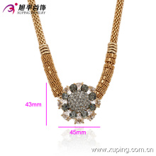 Fashion Xuping 18k Gold-Plated Female Zircon Necklace in Environmental Copper Alloy -00014