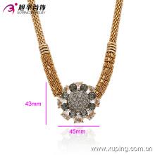 Colar de zircão feminino banhado a ouro 18k de moda Xuping em liga de cobre ambiental -00014