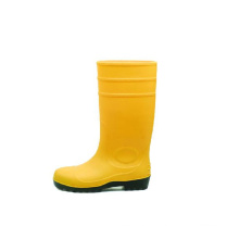 PVC Rain Boots Yellow with Steel Toecap Sn1218