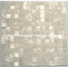 Mosaïque de mosaïque de coquille de mère de perle blanche (HMP69)