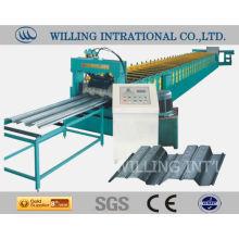 Maquina de formação de piso em aço