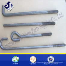 High strength zinc finished bolt Hot forging foundation bolt Foundation bolt