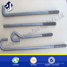Parafusado de zinco de alta resistência Parafuso de fundação de forjamento quente Parafuso de fundação