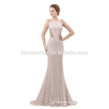 New fashion girls beaded sex prom evening gown 2018 with lace