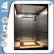 Porte manuelle Luxe Décoration Vitesse 0.4m / S Accueil Ascenseur