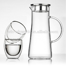 Wholesale 1.5 Litre Tableware Clear Glass Water Jug Set