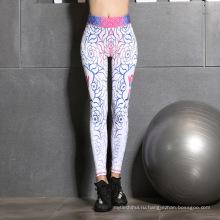 Мода цифровой печатных леггинсы сексуальные стили напечатанный розовый йога леггинсы девочки фитнес