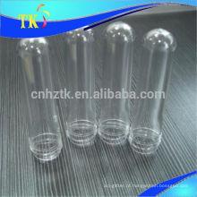 Pré-forma de PET para garrafas / 28mm / 30mm / 38mm / 46mm / 18g / 28g / 32g / 43g Pré-forma de garrafa de plástico PET