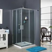 Chrome Aluminium Bath Shower Enclosure Room Sliding Door