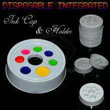 Round Diateretic Pigment Cups Tattoo Ink Cup For Tattoo Inks