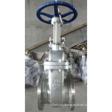 Válvula de compuerta con brida DIN con acero inoxidable