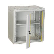 Gabinete de red montado en la pared 6U con puerta y cerradura de vidrio Gabinetes de red montados en la pared con cerradura