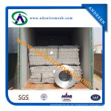 Galvanisierter sechseckiger Stahldraht-Maschendraht / Stahl Hexagoanl-Masche