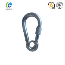 small size spring hook with eye and screw